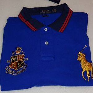 Polo Ralph Lauren Blue Crest Large Gold Pony. 131
